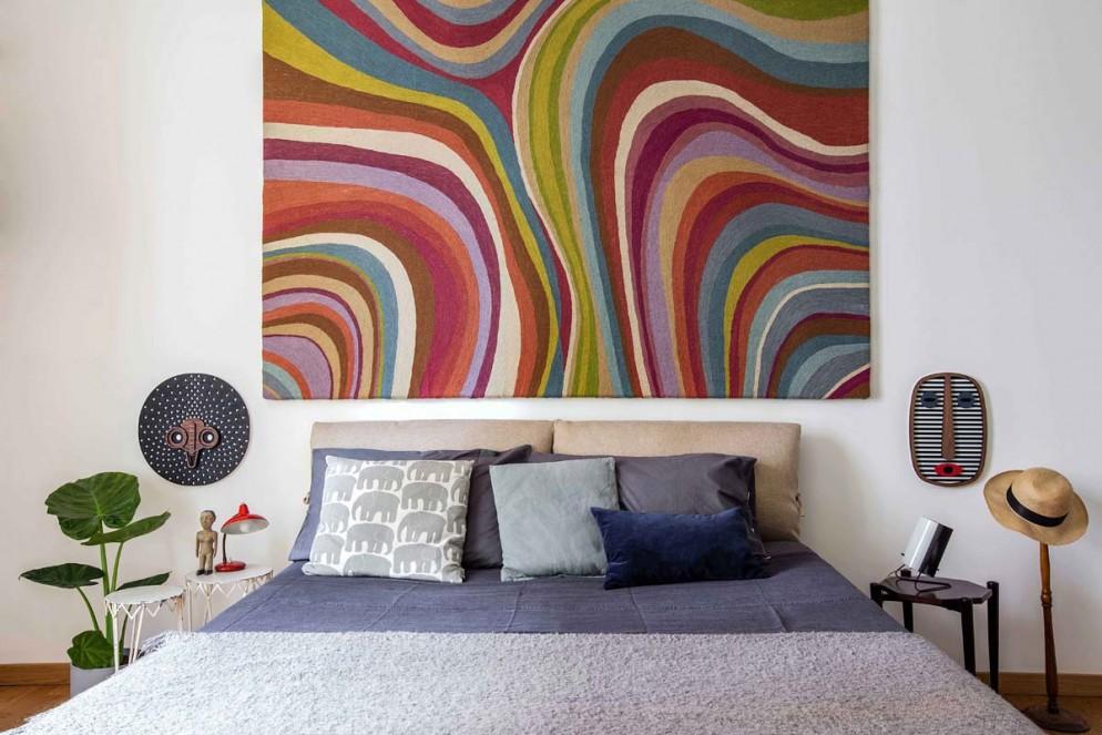 tappeto dietro parete letto