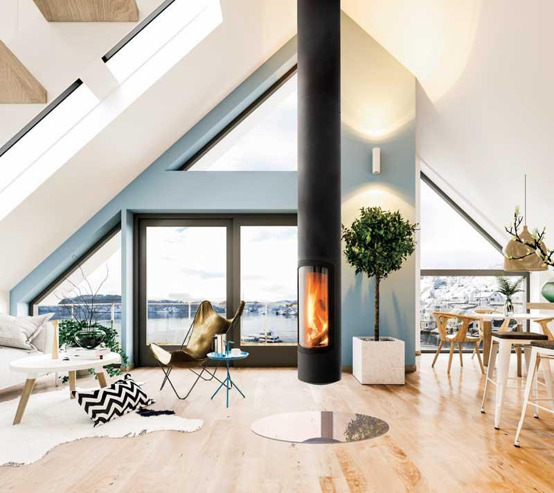 Scandinavian loft interior