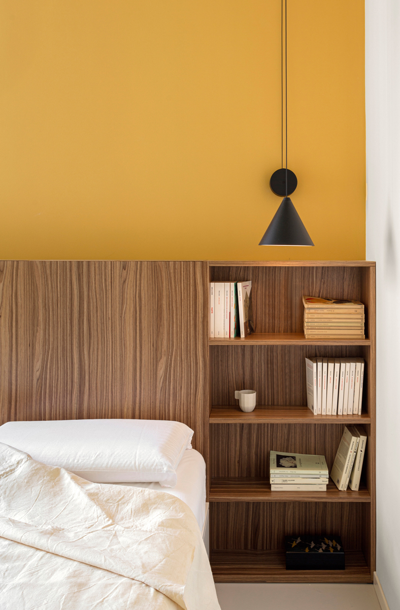 parete bicolore legno
