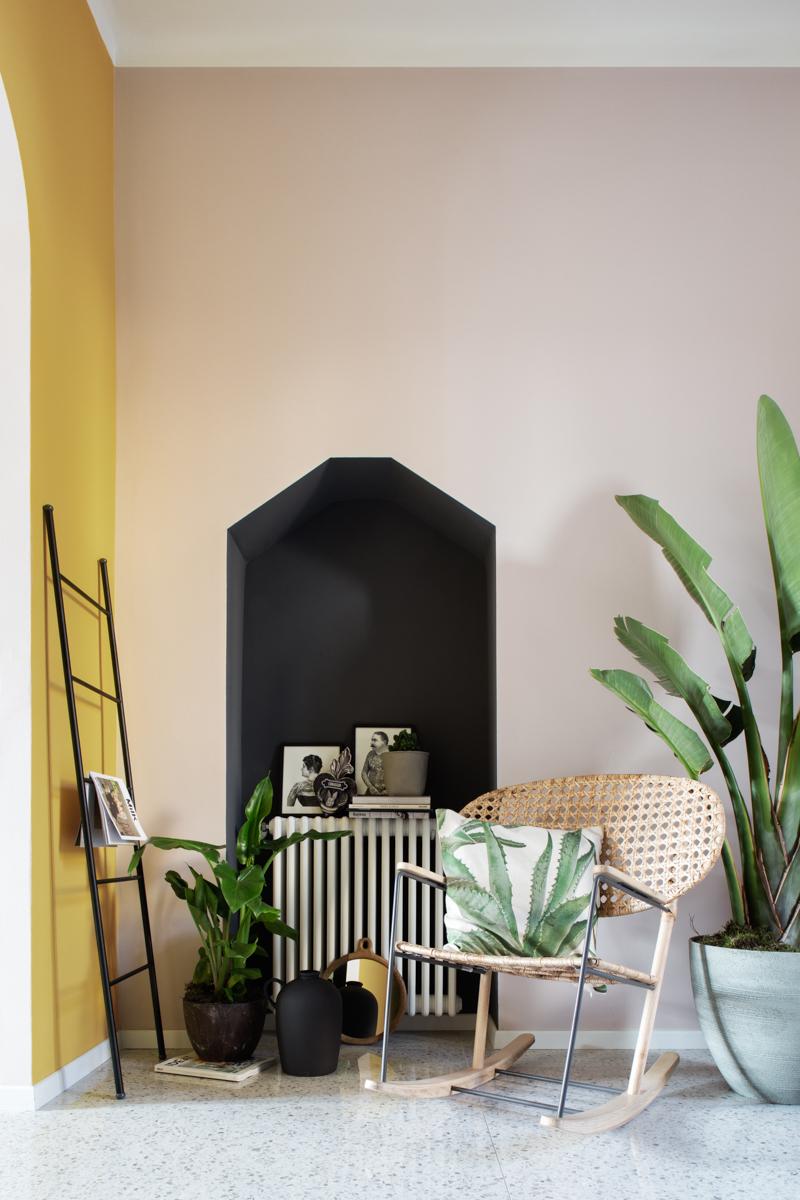 pareti due colori nicchia