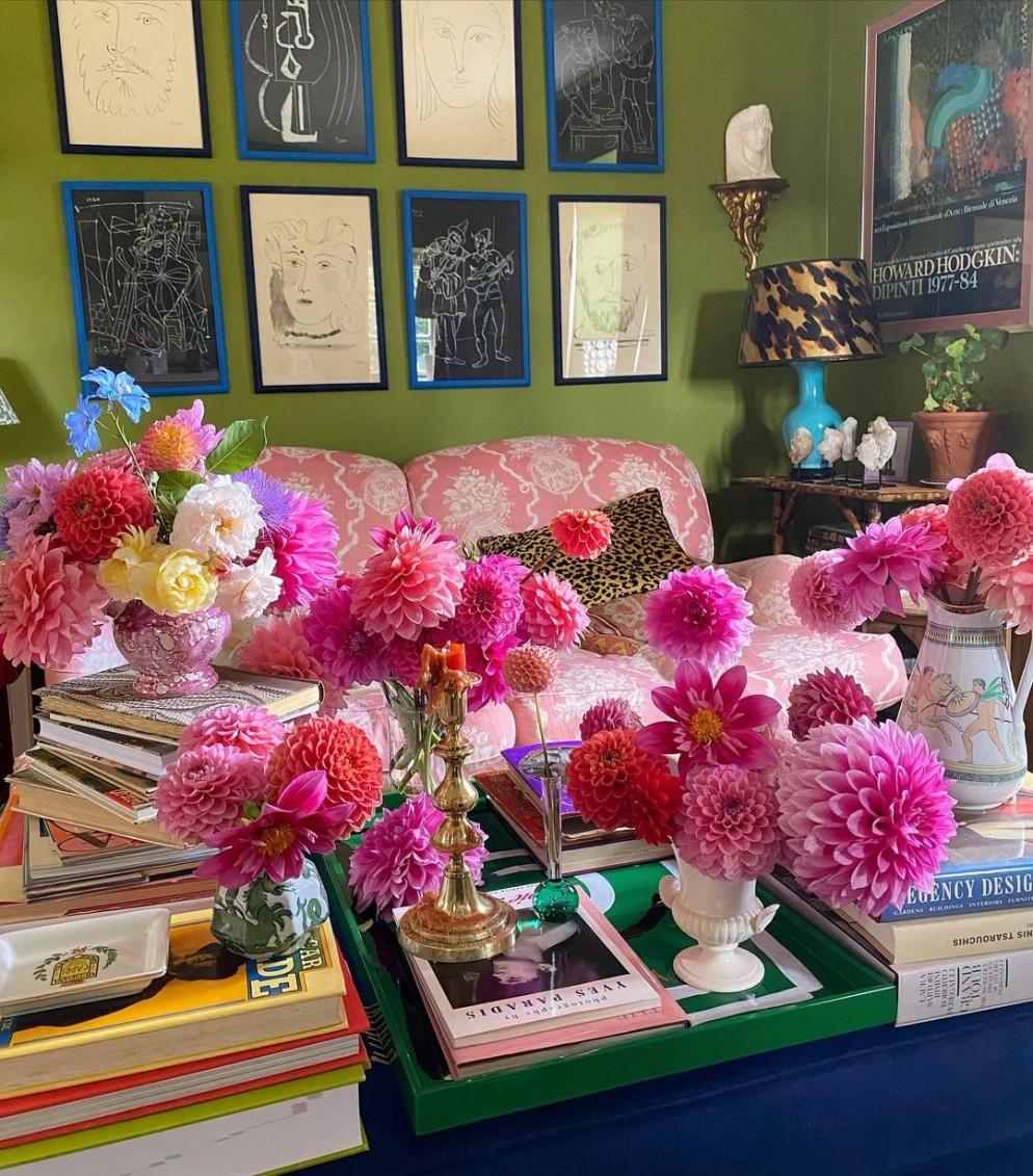 tavolino salotto decorazione fiori