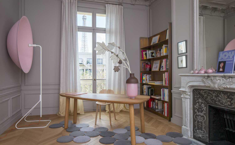 tende moderne salotto bicolore