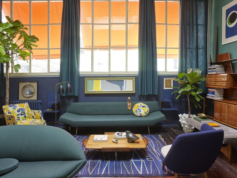 tende moderne salotto colore