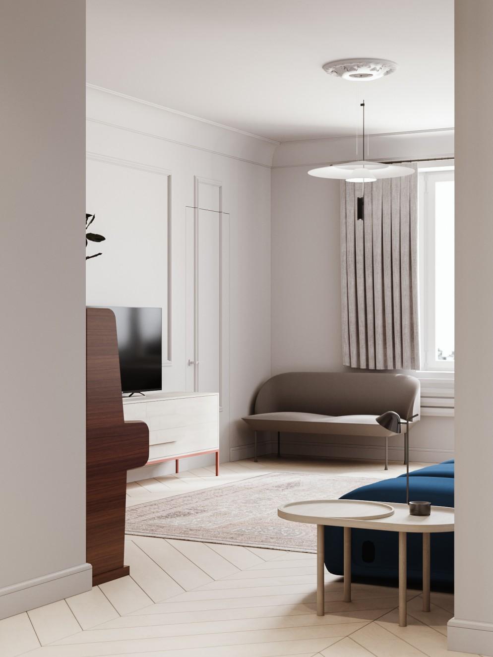tende moderne salotto corte