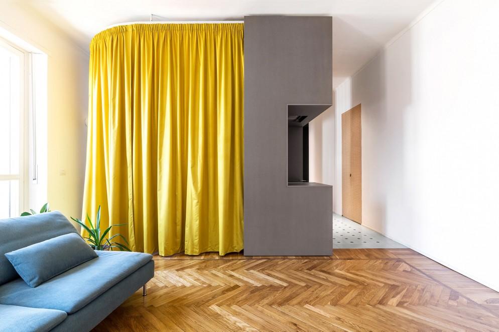 tende moderne salotto interne