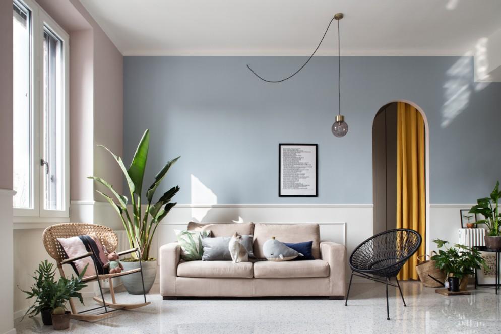 tende moderne salotto porta