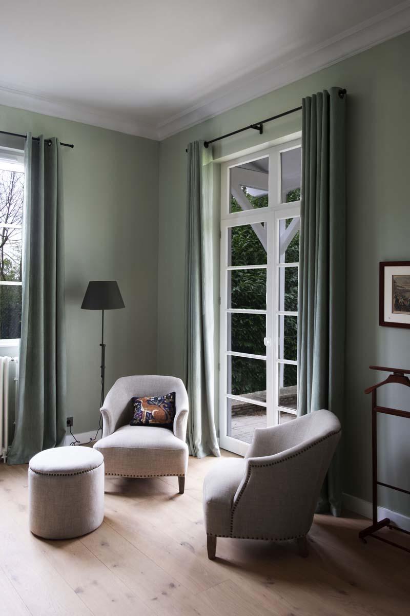 tende moderne salotto verde