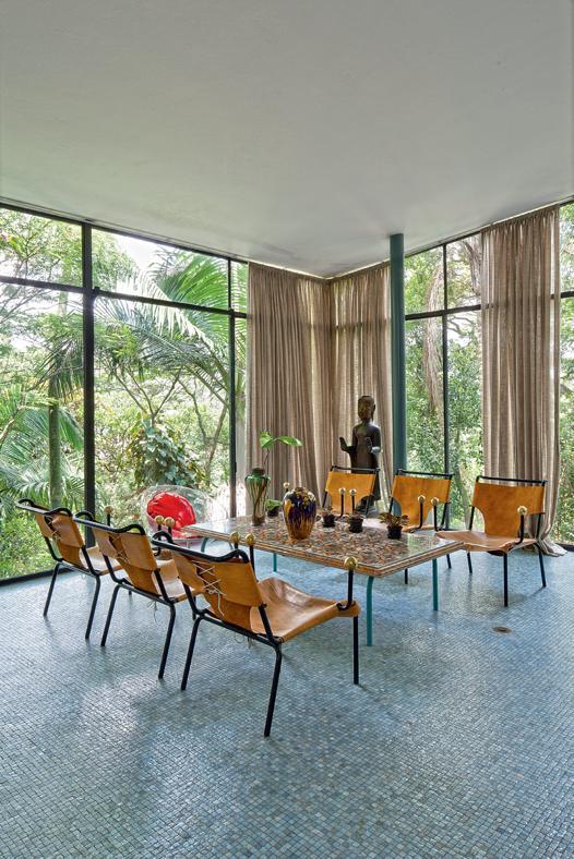 tende moderne salotto vetro