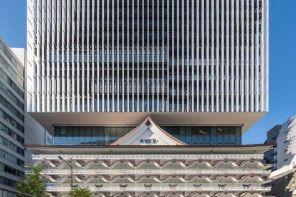 Il nuovo hotel di Kengo Kuma su un antico teatro a Osaka