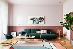 Rosa, vinaccia e verde bosco: i colori per arredare una casa vecchia Milano