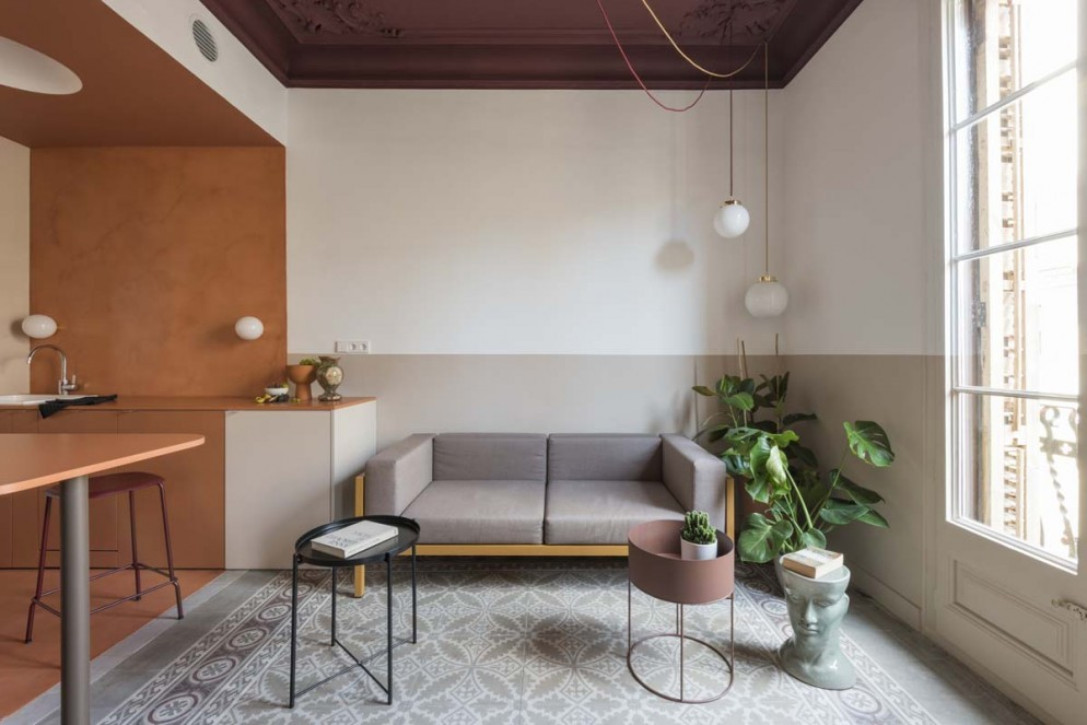 arredare-piante-Klinker-Apartment-Barcellona-CaSA-Photo-Roberto-Ruiz-livingcorriere