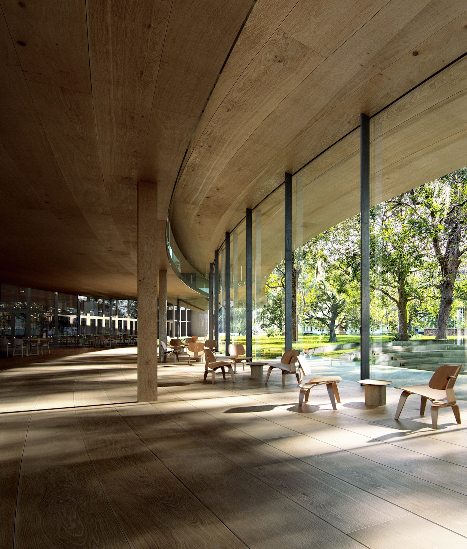 Norvegia: la biblioteca nel verde di Kengo Kuma - Foto