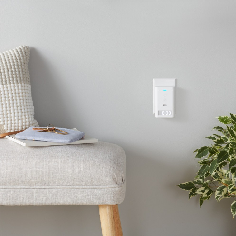 Echo Flex with Smart Clock living room