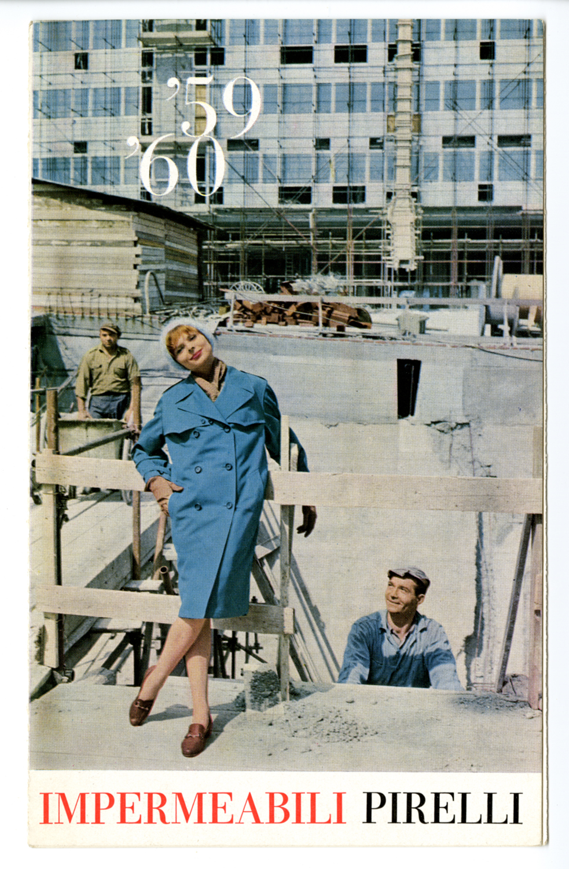 Mulas Ugo_pubblicita impermeabili Pirelli_pieghevole_1959