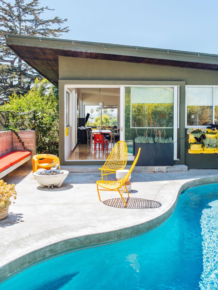 case americane interni moderni villa la