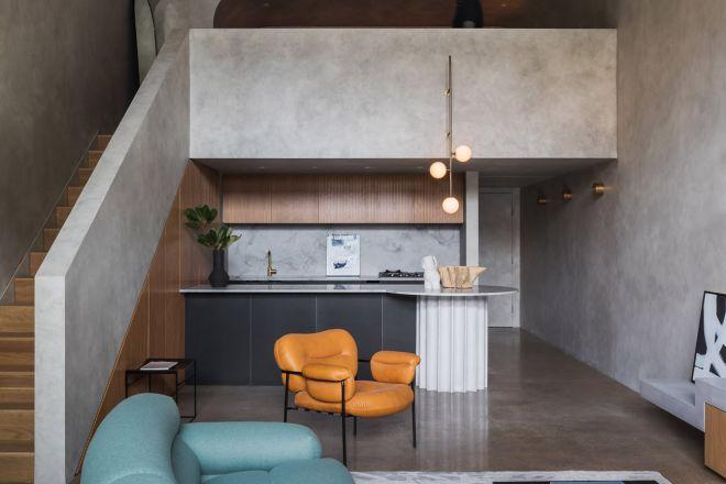 mini open space effetto cemento