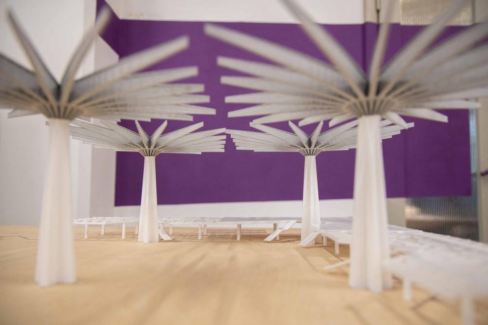260200 0016 4790887 Firenze, allestimento della mostra dedicata a Pier Luigi Nervi nell'ex manifattura tabacchi 2020 12 09 © Niccolò Cambi/Massimo Sestini