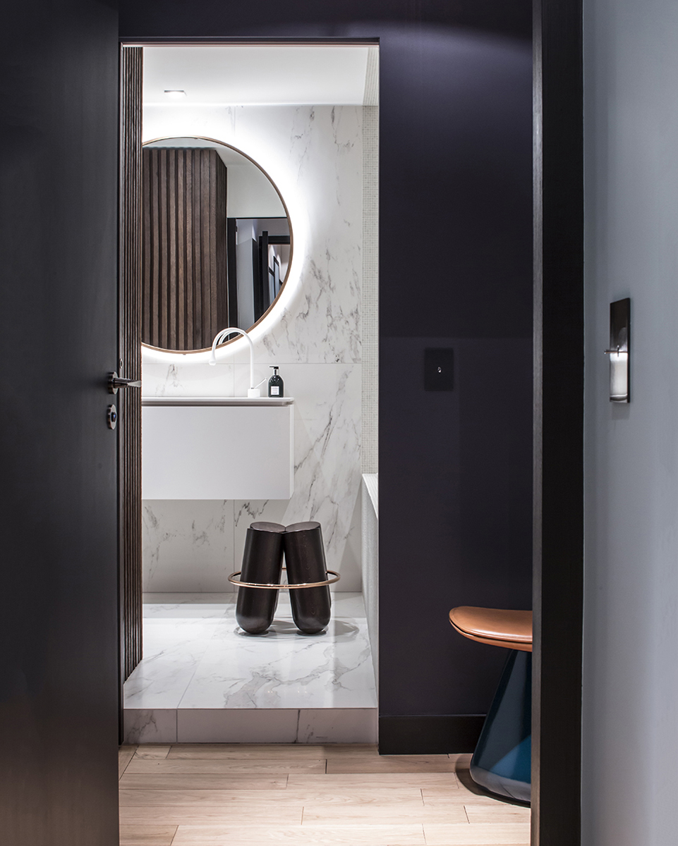 bagno moderno illuminazione