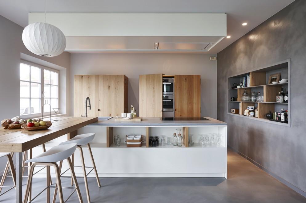 cucina moderna idee cemento