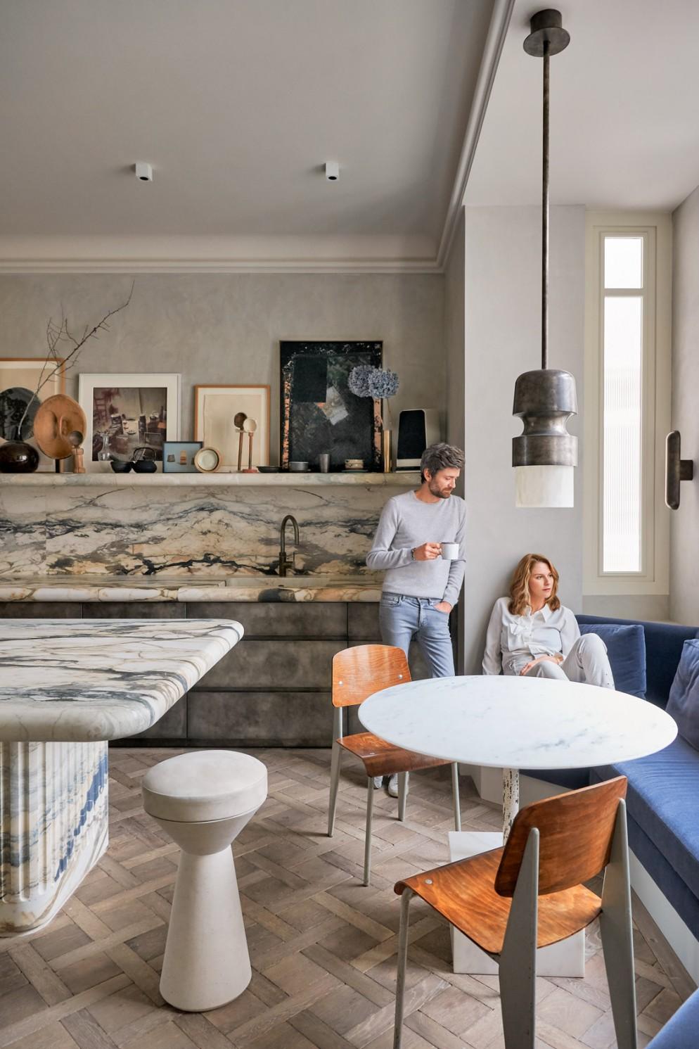 cucina moderna idee divano