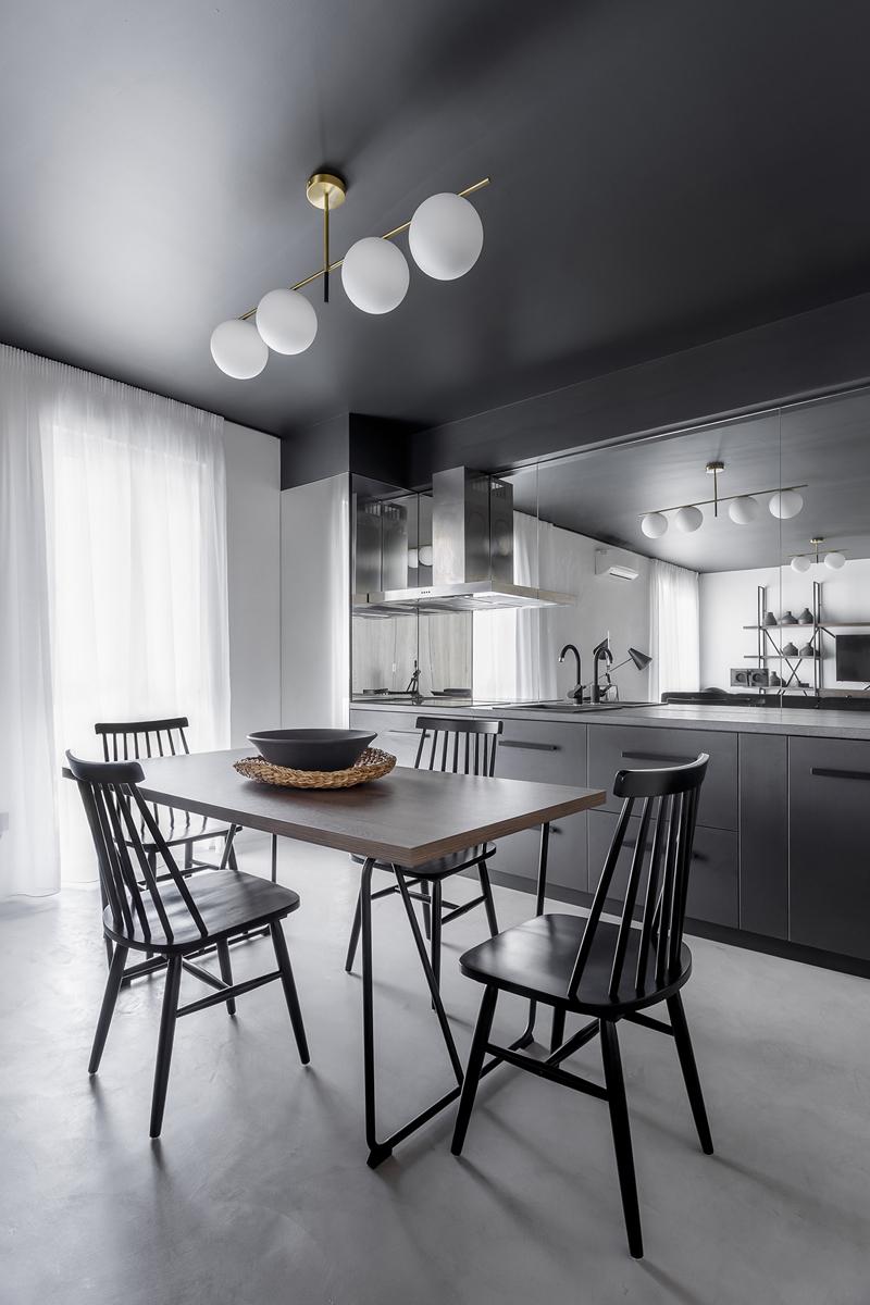 cucina moderna idee specchio