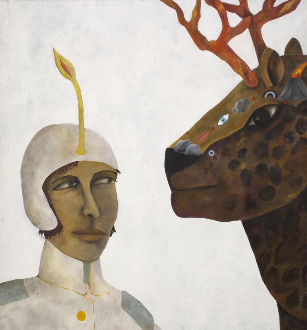 1988_Guerriera_154x165 cm_oil on canvas_ph Alice Fiorilli_Courtesy Nathalie Du Pasquier_1P1B7830