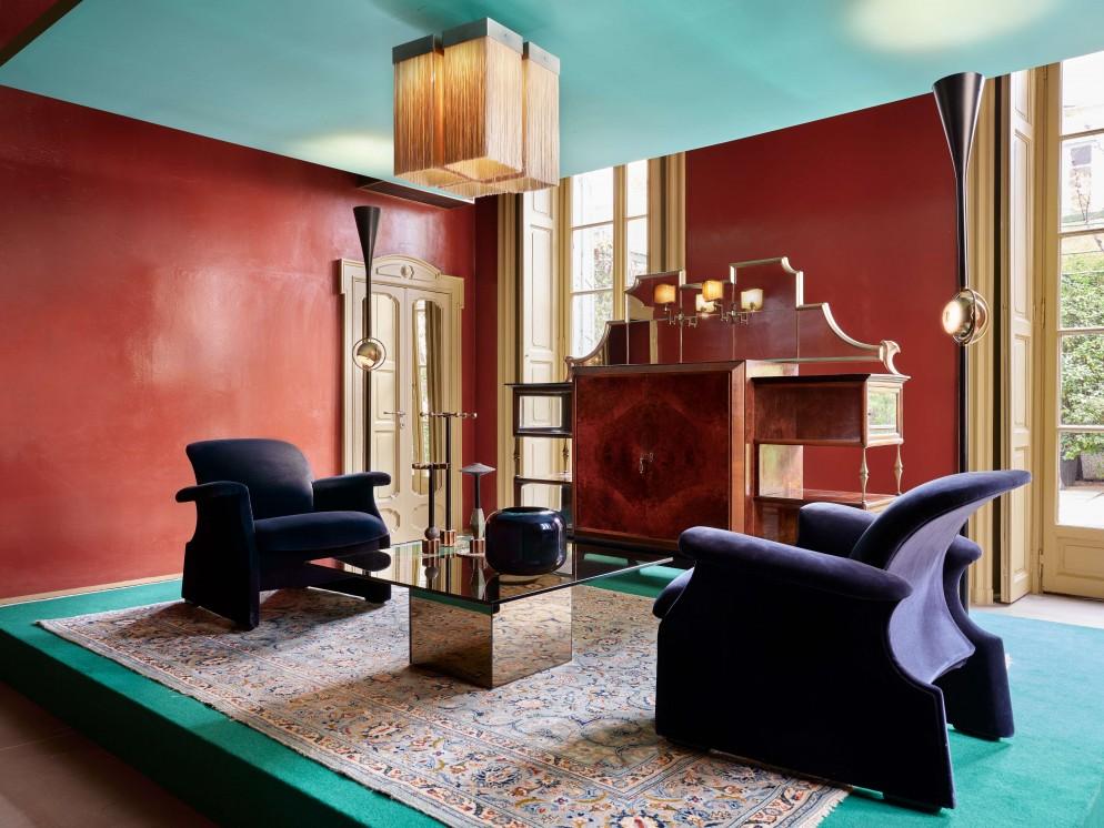 lampadario soggiorno modernariato