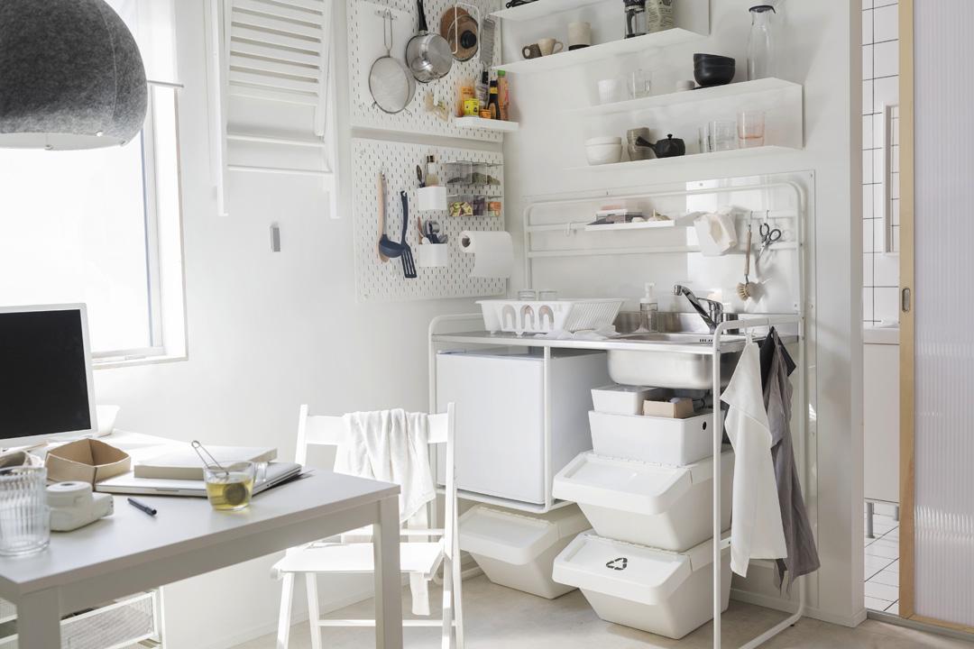 Mini cucine Ikea, le soluzioni salvaspazio che non ti aspetti