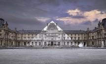 08 JR au Louvre, La Pyramide, 7 Juin 2016, 21H45 © Pyramide, architecte I. M. Pei, musée du Louvre, Paris, France, 2016