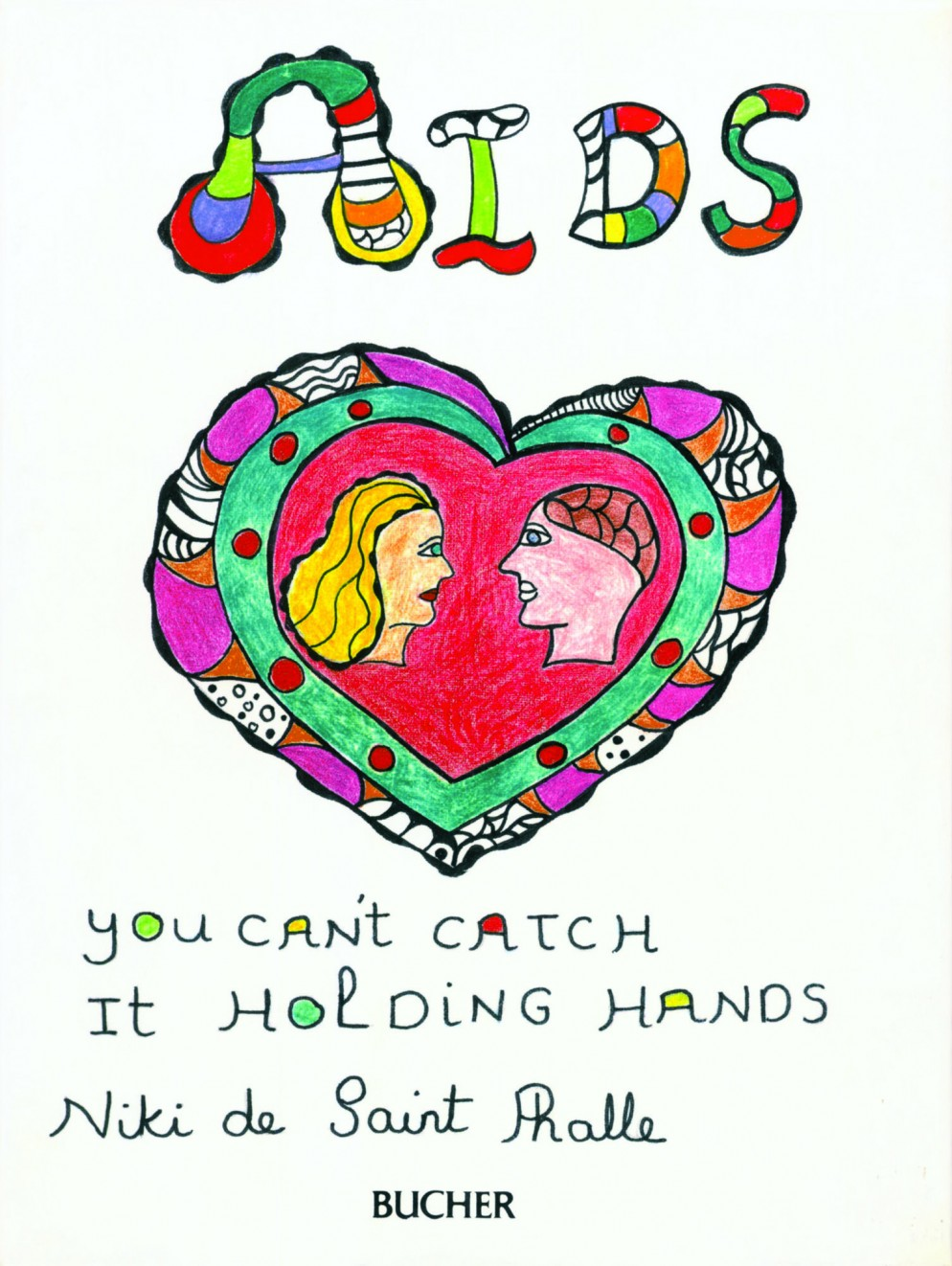 Book cover 'AIDS - You can't catch it holding hands', 1986