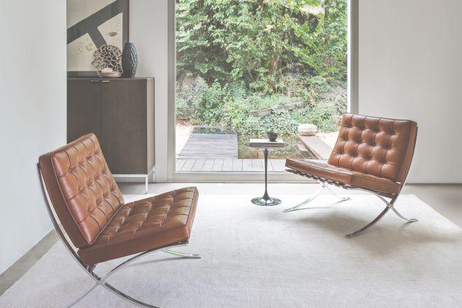 Barcelona Chair di Ludwig Mies van der Rohe, prodotta da Knoll, foto di Federico Cedrone