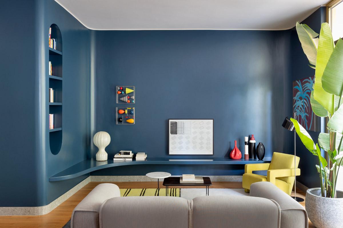 Blue navy colore pareti: idee e abbinamenti
