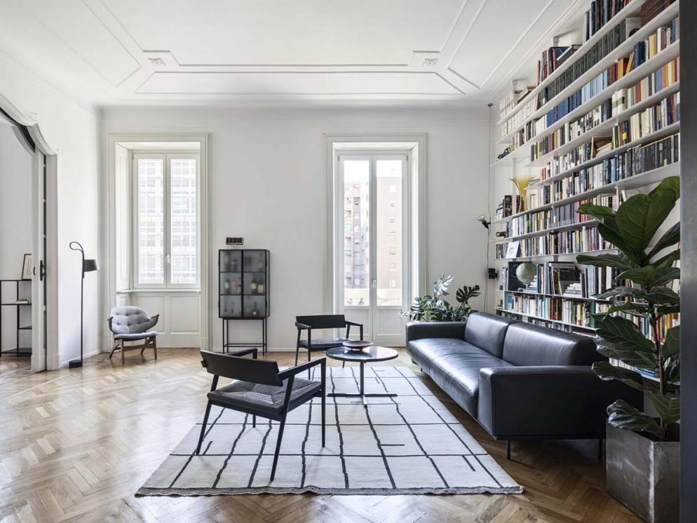 soggiorno moderno immagini bianco legno (7)