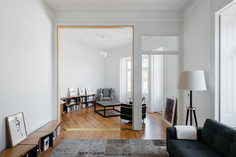 soggiorno moderno immagini bianco legno