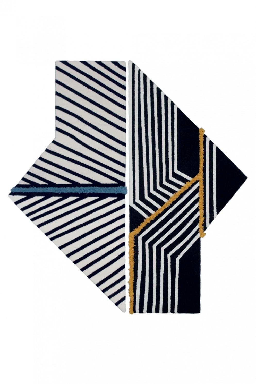 tappeti-moderni-forme-strane-Carpet Edition_Siamo Tutti Uno_Exas Blue + Memby Yellow-living-corriere