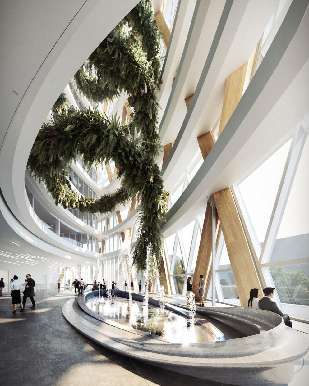 Unipol_Atrium ellisse @Mario Cucinella Architects