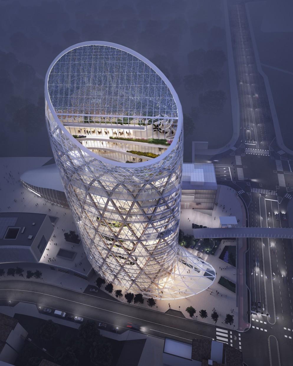 Unipol_render aereo_ by Engram Studio per Mario Cucinella Architects