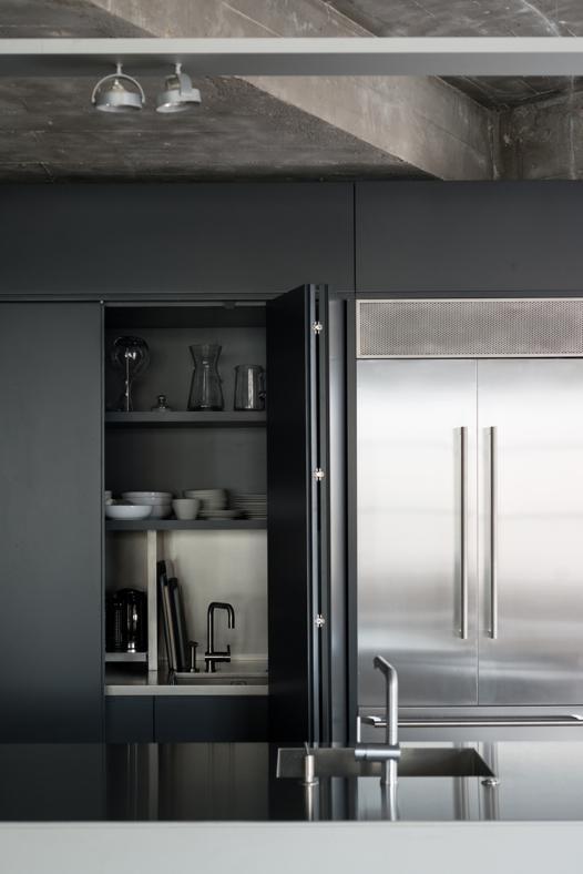 cucina a scomparsa  loft