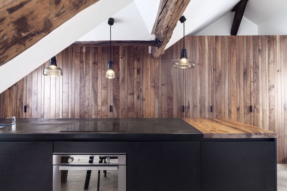 cucina a scomparsa mansarda