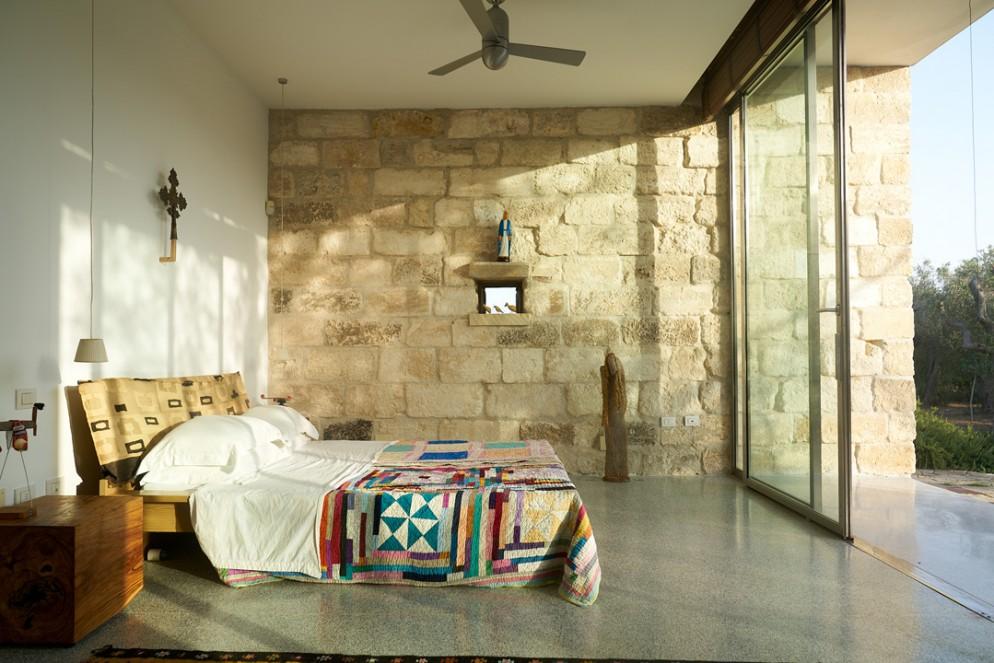 pareti in pietra idee camera da letto