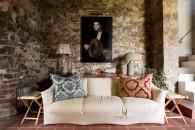 pareti in pietra idee soggiorno