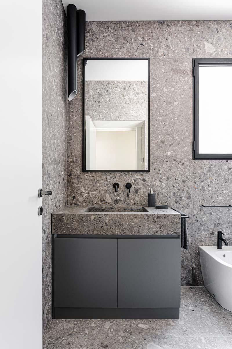 pareti in pietra idee bagno