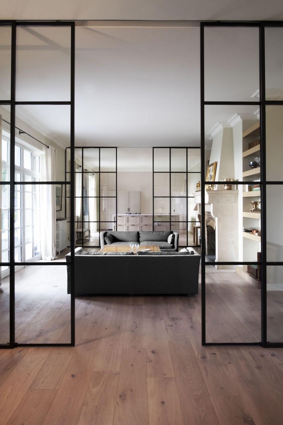 pareti divisorie di vetro