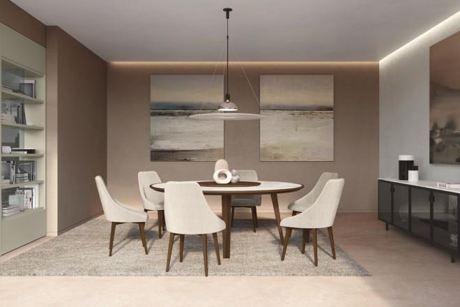 tavoli-soggiorno-design-2021-Febal Casa_tavolo Perseo e sedie Lady-livingcorriere