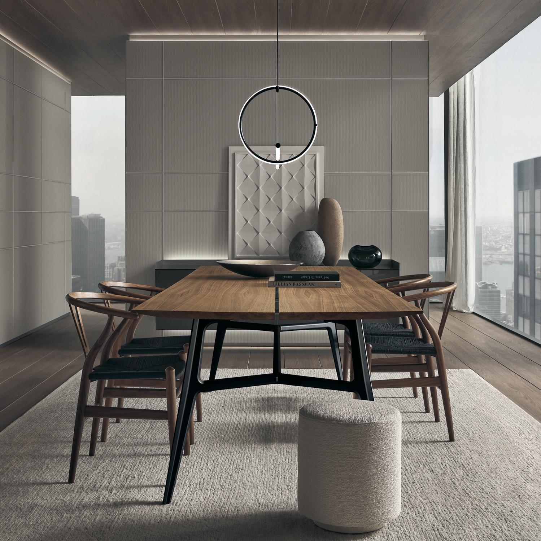 tavoli-soggiorno-design-2021-Rimadesio_Francis_noce_1-livingcorriere