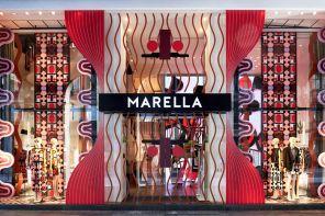 Le geometrie vibranti di Elena Salmistraro vestono Marella