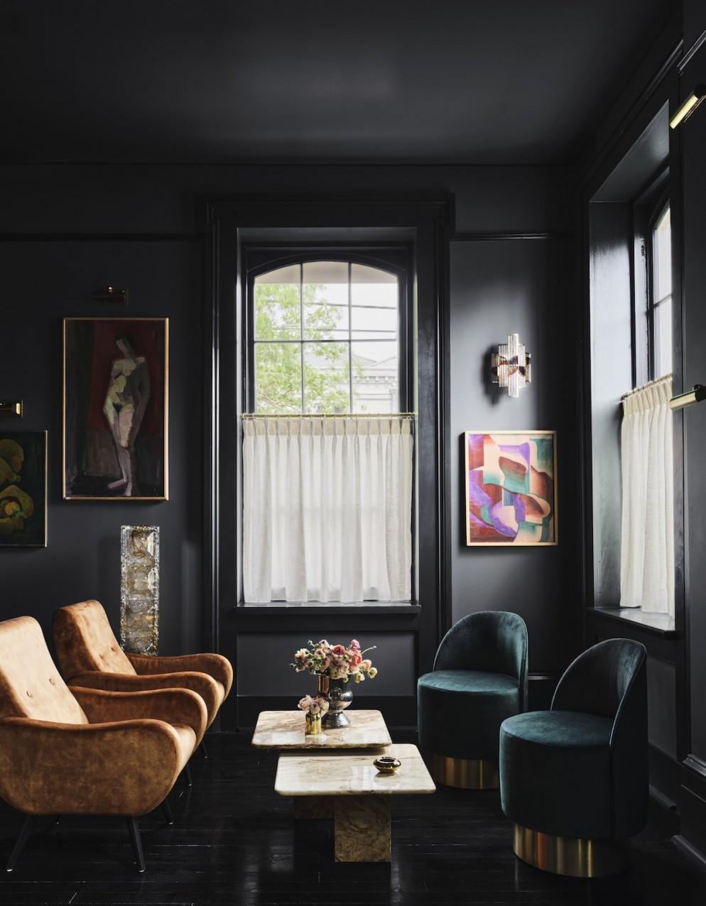 Hotel Saint Vincent -  Chapel Club x Seating Area - by Douglas Friedman