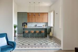 Cementine in cucina: abbinamenti per pavimenti e pareti