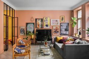 Color pesca sulle pareti di casa per una decorazione energetica