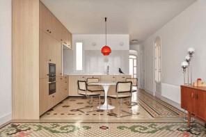 Pavimenti effetto pixel per una casa a Valencia